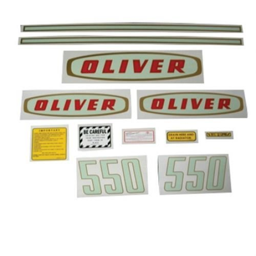 All States Ag Parts Tractor Decal Set 550 Early Mylar Oliver 550