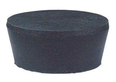 Cole-Parmer Solid Black Rubber Stoppers, Standard Size 6; 20/Pk by Cole-Parmer