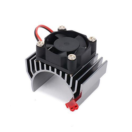 540/545/550 Size Motor Heatsink with Cooling Fan 6v JST Aluminum Heat Sink for 1/10 Car HSP HPI Wltoys Himoto
