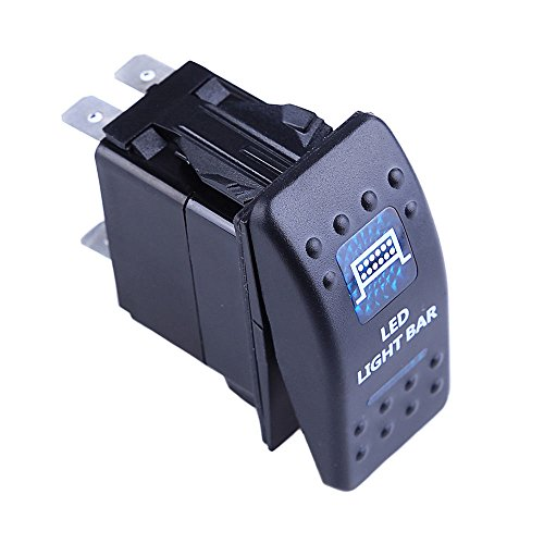 E-Support-Car-Motor-Boat-Blue-Light-Rocker-Toggle-Switch-Push-Button-5Pin