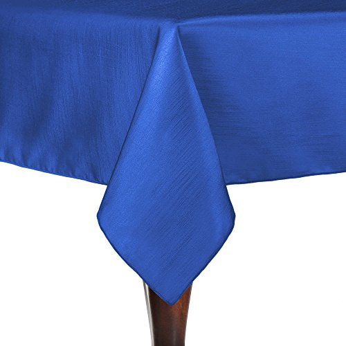 Ultimate Textile (10 Pack) Reversible Shantung Satin - Majestic 60 x 144-Inch Rectangular Tablecloth - for Weddings, Home Parties and Special Event use, Royal Blue by Ultimate Textile