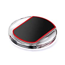 Conwell Wireless Charger Ultra-Slim Clear Wireless Charging Pad for Samsung Galaxy S3,S4,S5,S6/S6 Edge,Note 5,Note 4,Note 3,Note 2,Nexus 4/5/6/7, Nokia 1520, LG and All Qi-Enabled Devices