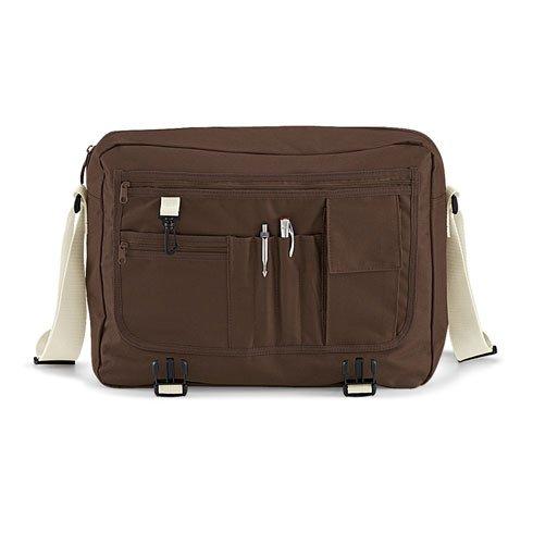 BagBase Messenger Bag, color azul, talla Talla Unica marrón/arena