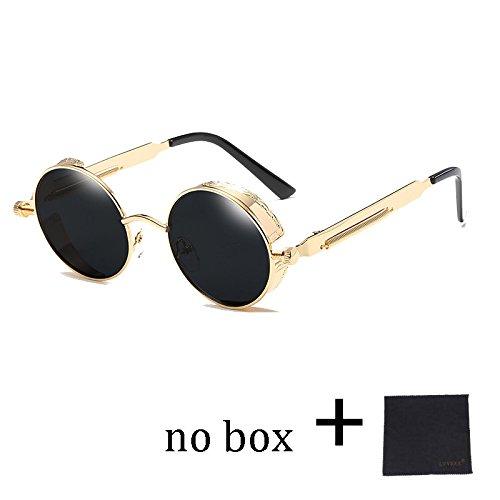 TIANLIANG04 Círculo Vintage Desde Rotonda De De Metal Gafas Mujer 58028C6 Del Oro Gafas De Espejo Gafas Sol Gótico Steampunk Hombre De 58028C1 El De Sol rdrqxnZPw0