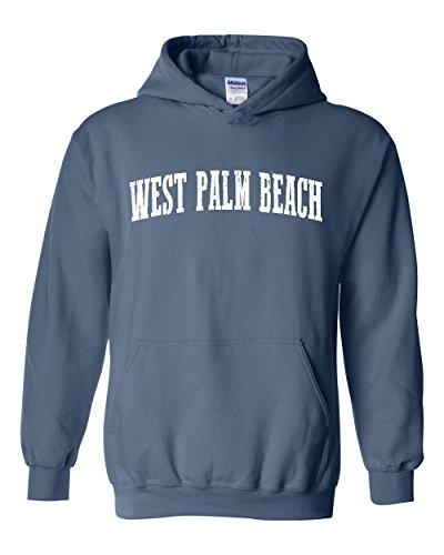 Mom`s Favorite Florida State Flag West Palm Beach Unisex Hoodie (XLIB) Indigo Blue (Palm Indigo Beach)