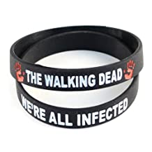 The Walking Dead Black Wristband We're All Infected - 2 Pack