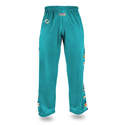 hins Men's Camo Print Accent Team Logo Stadium Pants, Medium, Aqua ()