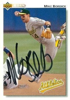 Autograph 120832 Oakland Athletics 1992 Upper Deck No. 72...
