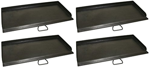 2 Burner Systems (Camp Chef SG60 Professional True Seasoned Steel Griddle Covers Two Burners with Handle, Fits Most 14