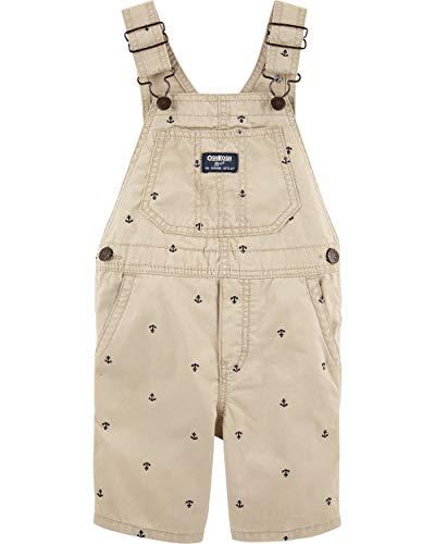 OshKosh B'Gosh Baby Boys' Toddler World's Best Overalls, Khaki Anchor Shortall, 5T ()