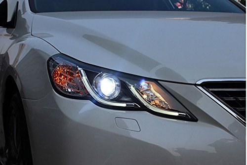 GOWE Car Styling for Toyota Reiz led headlights 2010-2013 new Mark X LED Head Lamp signal drl H7 hid Bi-Xenon Lens low beam Color Temperature:4300K Wattage:35W 3