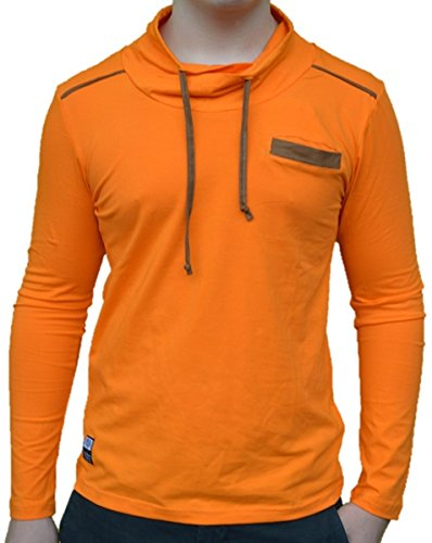 Brandneu !!! Designer Longsleeve T-Shirt von CARISMA in Orange CRM3038