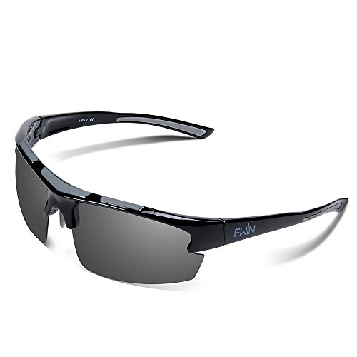 (Ewin E52 Polarized Glasses Sports Sunglasses for Men Women Baseball Golf Driving Fishing Cycling Running )