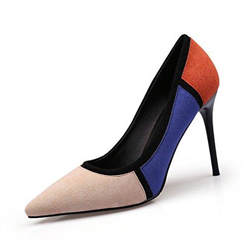 Girls tacchi Nero Sandali Shoes all'aperto scarpe Primavera Estate sexy punta Shopping Womens ColorblockWild ZXMXY Blu Club Blu a Night scarpe Party Shoes alti U0qEw5Rn