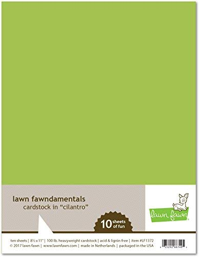 Lawn Fawn LF1372 Cilantro cardstock [並行輸入品] B07TBTCB9C