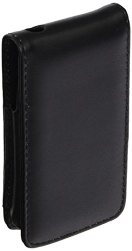 eForCityBLACK LEATHER FLIP CASE POUCH COVER Compatible With iPhone4 4G 4TH iPhone4S - AT&T, Sprint, Version 16GB 32GB 64GB by kiki mall