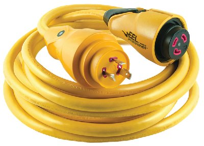 - Marinco EEL 30-Amp 125-Volt Cord Set, Yellow, 25-Feet
