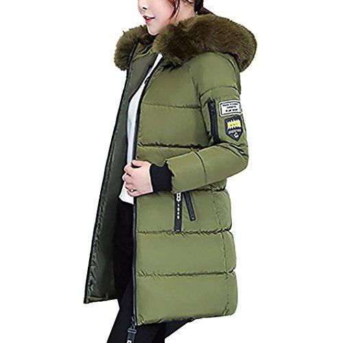 Invernale Grigio Con Mamum Pesante Da Rosa Colori Caldo Donna Green Cappuccio Piumino Verde E Army Nero Cappotto Lungo Militare Rxnw6wXqpf