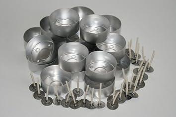 Juego de 20 moldes para velas y 30 mechas TL15 enceradas (aluminio): Amazon.es: Hogar