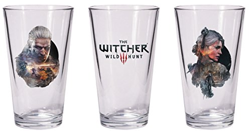 Dark Horse Deluxe The Witcher 3 Wild Hunt Geralt & Ciri Pint Glass Set ()