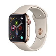 Apple Watch Series 4 (GPS + Cellular, 44mm) - Gold Stainless Steel Case with Stone Sport Band
