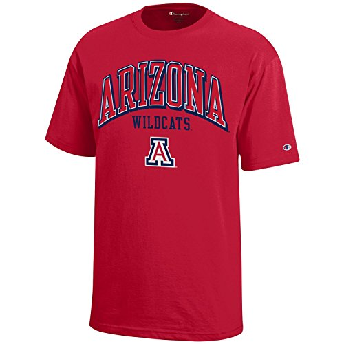 (Champion NCAA Arizona Wildcats Youth Boys Short Sleeve Jersey T-Shirt, X-Large, Scarlet)