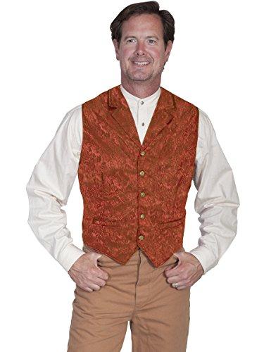 - Scully 535354X-RUS-XLT-B-T Mens Wah Maker Twin City Vest - Rust, XLT