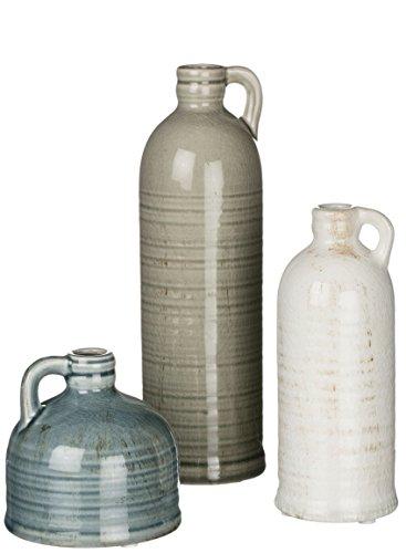 Sullivans Decorative Jugs Set of 3, Grey,  (Decor Home Antique)