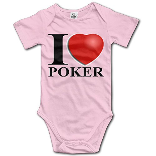 - Poker Cards Love Short Sleeve Baby Girl Clothes One-Piece Bodysuit Creeper Unisex