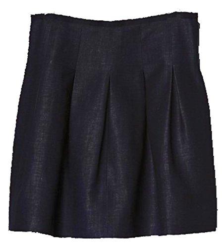 - GAP Womens Black Pleated Full Flared Skirt 14