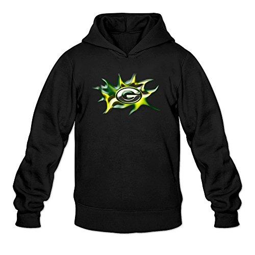 Green Bay Logo Sweatshirts Black For Men