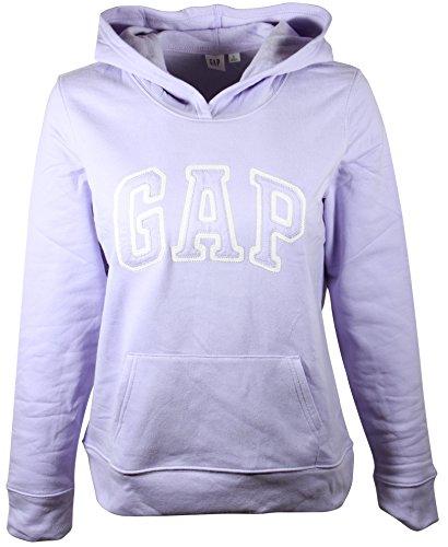 GAP Womens Fleece Arch Logo Pullover Hoodie (S, Light (Gap Ladies Clothes)