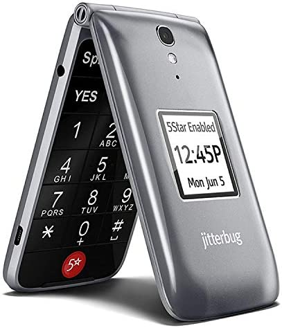 Jitterbug 4043S5RRY Flip Easy-to-Use 4G Prepaid Cell Phone Graphite WeeklyReviewer
