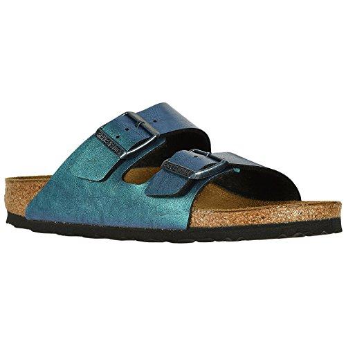 Birkenstock Unisex Arizona Birko-Flor Graceful GEMM Blue Sandals 8 W / 6 M US