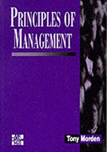 Principles of Management book by Tony Morden