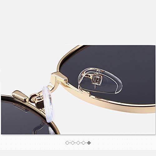 Gafas Marco polarizadas hombre sol sol Vintage metalizado redondo marca Gafas de Vintage de de Estilo para ffqanrw1x