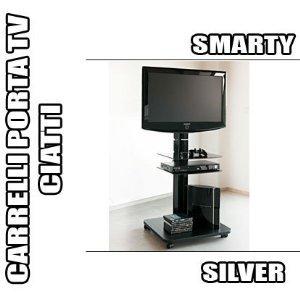 RBM 04 CARRELLO PORTA TV CIATTI SMARTY SILVER MOBILE CON RUOTE ...