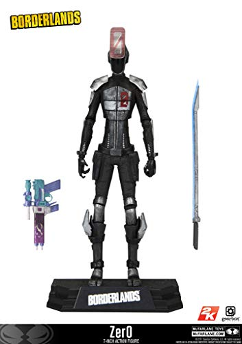 McFarlane Toys Borderlands Zer0 Collectible Action Figure (Borderlands 2 Best Weapon Codes)