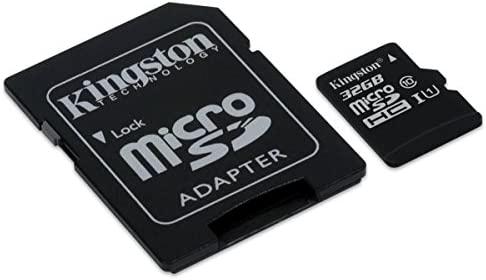 Kingston SDCIT/32GB - Tarjeta de Memoria microSDHC de 32 GB (UHS-I, Clase 10, Temperatura Industrial, con Adaptador SD)