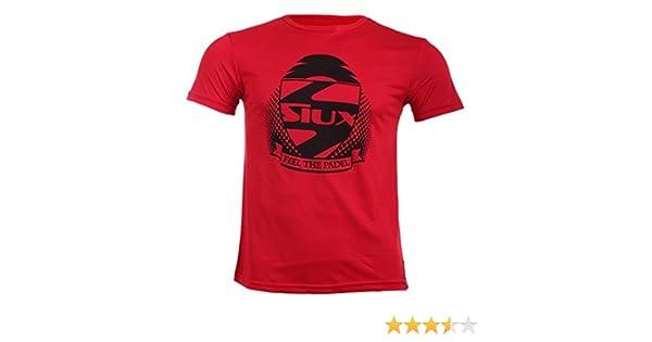 Camiseta padel Siux hombre (Rojo, XL): Amazon.es: Deportes y aire ...