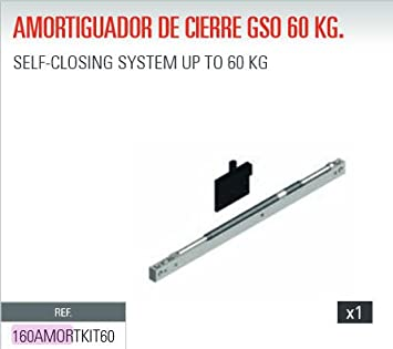 ADINOR AMORTIGUADOR (GSO-GSU) CIERRE PUERTAS CORREDERAS DE 60 Kg: Amazon.es: Bricolaje y herramientas