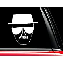 """Mug Drawing Breaking Bad Heisenberg Face (White 5"""") Vinyl Decal Sticker for Car Automobile Window Wall Laptop Notebook Etc.... Any Smooth Surface Such As Windows Bumpers   Keen167"""