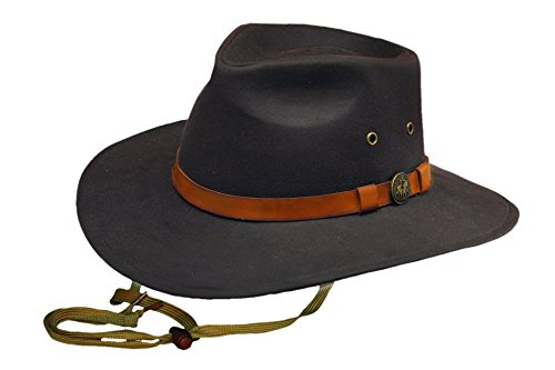 Outback Trading Kodiak Oilskin Hat Large Brown
