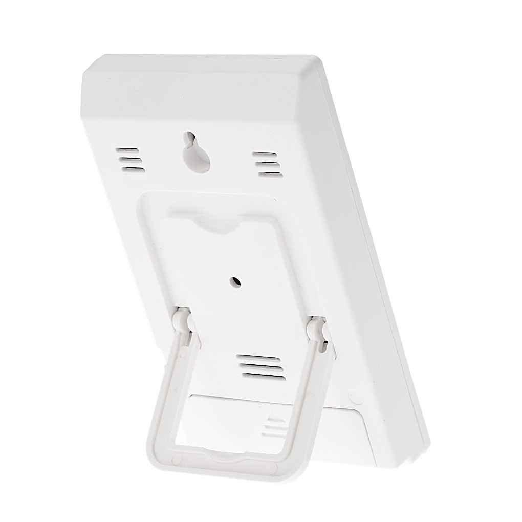 Jinzuke CX-201 Thermom/ètre LCD hygrom/ètre Horloge humidit/é temp/érature m/ètre Baby Face Confort Niveau Station m/ét/éorologique Afficher