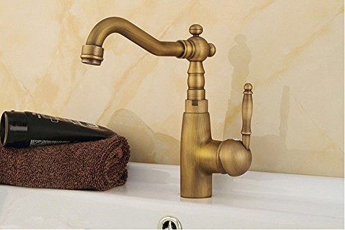 Commercial Kitchen Faucet Stainless Steel Handle Pull Out Kitchen Sink Faucet Antique Simple Copper hot and Cold Kitchen Sink Faucet Kitchen Faucet