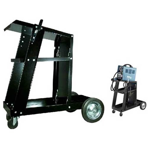 MIG TIG Plasma Cutter Arc Welding Cart with Tank Storage