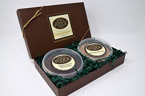 2 Flavor Gift Box | Homemade Fudge | Chocolate Caramel | English Toffee | 1 lb Fudge