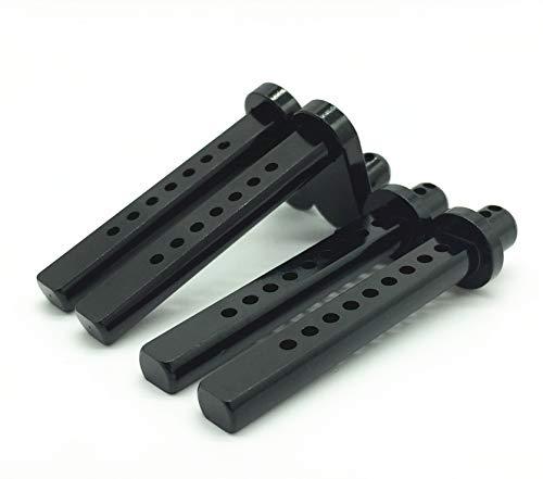 Treal Aluminum CNC Body Post Mounts 4-Pack for Axial SCX10 1:10 RC Car - Black
