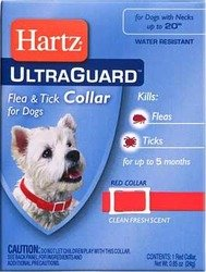 "Ultraguard Flea & Tick Dog Collar 23"" - Red"