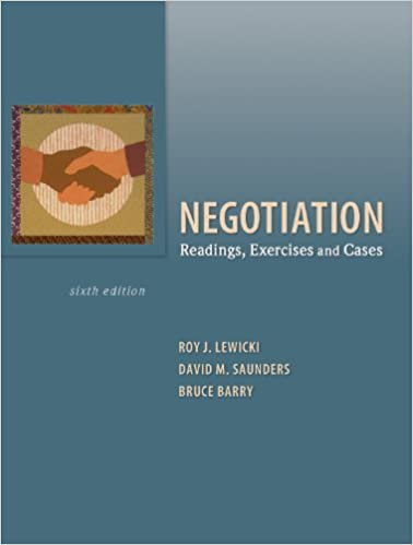 Pdf~ negotiation: readings, exercises, and cases kindle by.